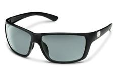 Suncloud Anggota Dewan Terpolarisasi Kacamata Hitam, Warna Tidak Mengkilap Hitam Bingkai, Lensa Abu-abu