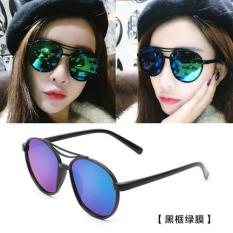 Ulasan Tentang Sunglasses Female Star Eyes Round Face Elegant Glasses 2017 New Round Personality Sunglasses Ladies Not Specified Black Intl