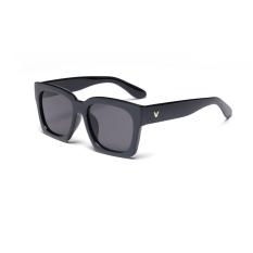 Sunglasses Men Square Warna Hitam Polaroid Lensa Bingkai Plastik Driver Kacamata Hitam Merek Desain Kotak Asli Pria Oculos