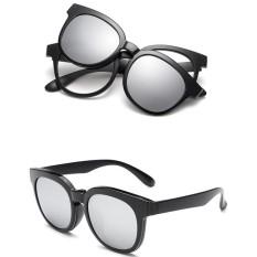 Kacamata Pria UV400 Miopia Jepitan Kacamata Wanita Kacamata Hitam Mengemudi Lensa Penglihatan Malam-Intl