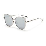 Ulasan Kacamata Hitam Wanita Mata Kucing Retro Silver Warna Polaroid Lensa Titanium Frame Driver Kacamata Hitam Merek Desain Kotak Asli Wanita Oculos