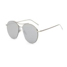 Jual Sunglasses Women Irregular Silver Color Polaroid Lens Titanium Frame Driver Sunglasses Brand Design Original Box Women Oculos Hong Kong Sar Tiongkok