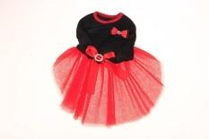 Sunny's Shop-Pet PUPPY Anjing Kucing Princess Tutu Dress Gelembung Rok Pakaian M (Hitam) -Intl