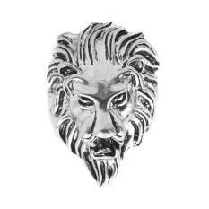 Sunnyshopxy Mewah Punk Gaya Singa Kepala Paduan Laki-laki Cincin Antik Cincin Keren untuk Pria Tertambat Erat Pesta Ulang Tahun Perhiasan Cincin ukuran: 9.0-Internasional