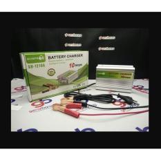 Sunpro Portable Motorcrycle Car Battery Charger 10A/12V Accu Aki Motor Mobil / Baterai Charger -Charger Aki Serbaguna
