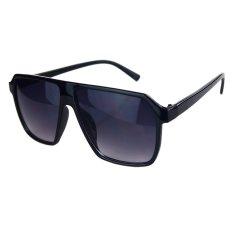Sunshine Vintage Retro Gaya Busana Tebal Bingkai Besar Warna Lenses Wanita/Pria Pesta KEREN Besar Kacamata Sunglasses UV400 Kacamata YJ0191