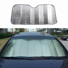 Miliki Segera Sunshop Folding 130 60 Cm Auto Depan Window Shade Visor Aluminium Foil Car Windshield Sun Penutup Perlindungan Internasional