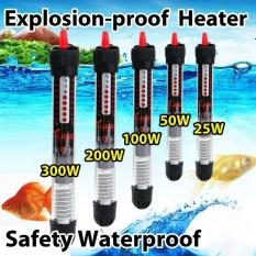 Sunshop Keselamatan Watre-proof Fish Tank Aquarium Water Suhu Controller Adjustable Pemanas Air (25 W)-Intl