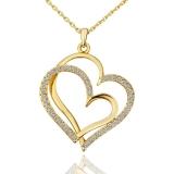 Toko Sunweb Nikel Antiallergic 18 Kb Emas Cinta Hati Bentuk Liontin Kalung Untuk Wanita Online Hong Kong Sar Tiongkok