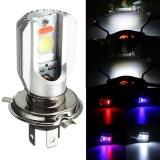 Promo Sunyoo H4 Motorcycle Cob Led Headlight Hi Lo Beam Front Light Bulb Lamp 3 Colors 6500K Intl Akhir Tahun