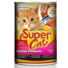 Ulasan Super Cat Can Makanan Basah Kucing Kitten Formula 6 Pcs 6 Cans X 400G