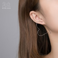 Super Fairy Earrings Di Sterling Silver 925 Perak Hypoallergenic Kepribadian All-Match Sexy Slim Atap Minimalis 2017 NEW-Internasional