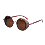 Diskon Supercart Vintage Round Sunglasses Brown Oem Indonesia