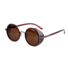 Beli Supercart Vintage Round Sunglasses Brown Murah