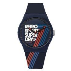 Superdry - Jam Tangan Pria - Biru-Biru - Rubber Biru - SYG181U