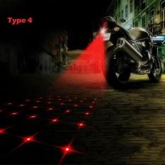 SUV Mobil LED Belakang Sepeda Motor Fog Lights Laser Tail Indikator Peringatan Lampu Kendaraan Rem Waterproof Sepeda Motor Universal 720LM, Panjang Gelombang Laser 650nm (Merah) Jenis 4-Internasional