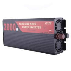 SUVPR DY-LG2000S 2000W DC 12V to AC 220V Pure Sine Wave Car Power Inverter with Universal Power Socket - intl
