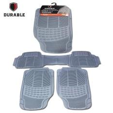 SUZUKI ERTIGA DURABLE Karpet Karet PVC 3 Pcs Comfortable Universal Grey