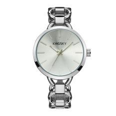 Svoovs Kingsky Pabrik Jam Tangan QUARTZ Watch Warna Guangzhou Grosir Wholesale Trade AliExpress Watch Penjualan (Putih)