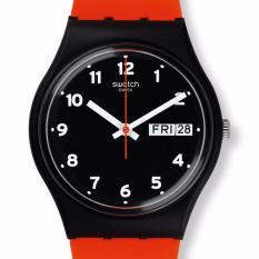 SWATCH GB754 - Red Grin - Jam Tangan Pria - Bahan Tali Silikon - Merah -