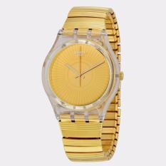 Spesifikasi Swatch Ge244A B Purity Jam Tangan Wanita Bahan Tali Stainless Steel Emas Swatch Terbaru