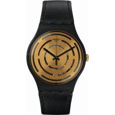 Swatch - Jam Tangan Pria - Hitam-Emas - Strap Hitam - SUOB126 Seeing Circles