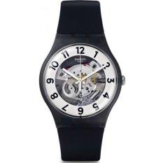 Beli Swatch Jam Tangan Pria Hitam Putih Rubber Hitam Suob134 Skeletor Swatch Dengan Harga Terjangkau