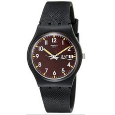 Spesifikasi Swatch Jam Tangan Pria Hitam Rubber Hitam Gb753 Murah