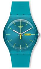Harga Swatch Jam Tangan Pria Suol700 Turquoise Rebel Yang Bagus