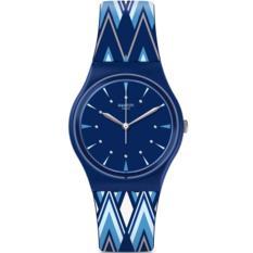 Swatch - Jam Tangan Wanita - Biru-Biru - Rubber Biru - GN250 Pikabloo