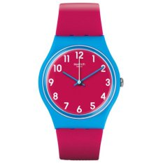Review Tentang Swatch Jam Tangan Wanita Biru Merah Muda Rubber Merah Muda Gs145 Lampone