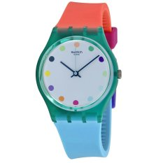Toko Swatch Jam Tangan Wanita Hijau Putih Rubber Colourfull Gg219 Candy Parlour Lengkap