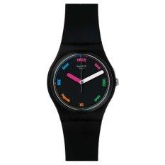 Swatch - Jam Tangan Wanita - Hitam-Hitam - Rubber Hitam - GB289 The Strapper