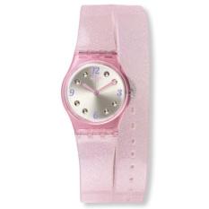 Swatch - Jam Tangan Wanita - Merah Muda-Putih - Rubber Merah Muda - LP132 b73a83f308