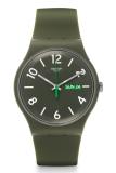 Spesifikasi Swatch Men S Suog706 Jam Tangan Pria Hijau Silicone Paling Bagus