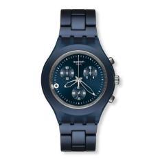 Toko Swatch Svcn4004Ag Full Blooded Chrono Smoky Blue Jam Tangan Unisex Navy Blue Lengkap