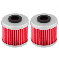 Sweatbuy 2pcs Motorcycle Engine Fuel Oil Filter for Honda CRF150R CRF250R CRF250X CRF450R CRF450X - intl