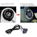 Spek Sweatbuy Universal 12V Car Vehicle Engine Start Push Button Switch Ignition Starter Blue Led Intl