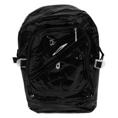 Jual Sweety Women G*rl Zipped Fashion Transparan Clear Backpack Kantong Plastik Tas Sekolah Bookbag Black Branded Murah