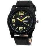 Spesifikasi Swiss Army 001 Jam Tangan Pria Tali Kulit Hitam Kuning Lengkap Dengan Harga