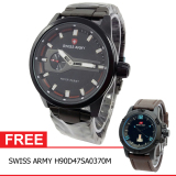 Review Swiss Army Bogof H230D48Sa7415Mhtmm Crhono Second Jam Tangan Pria Stainless Steel Back Hitam Gratis Swiss Army H90D47Sa0370M Swiss Army Di Banten