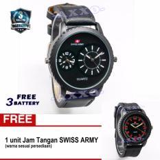 Harga Swiss Army Bogof Sa 0066 Dual Analog Jam Tangan Pria Kulit Hitam Variasi Putih Bonus Sa 0063 64 65 Termurah