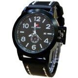 Jual Swiss Army Casual Daydate D46H120Sa3291Mhtmlp Jam Tangan Pria Leather Strap Hitam Putih Online