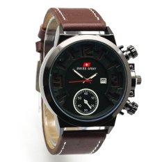 Harga Swiss Army Casual Sa 0030 L Jam Tangan Pria Strap Kulit Coklat Tua Terbaik