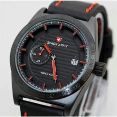 swiss army chrono detik aktif SMoe121a leather strap