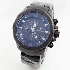 Tips Beli Swiss Army Chrono Jam Tangan Fashion Pria Full Stainlessteel Sa6410Bs Hitam