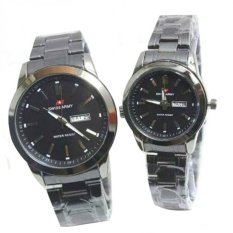 Review Swiss Army Couple Jam Tangan Couple Black Stainless Dial Black Sa 2131 Ds Jawa Barat