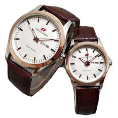 Toko Swiss Army Couple Jam Tangan Couple Leather Strap Sa 1576 Brown Gold Online Dki Jakarta