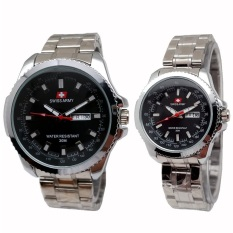 Beli Swiss Army Couple Jam Tangan Couple Silver Stainless Dial Hitam Sa 4366 Sb Cicil
