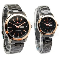 Diskon Swiss Army Couple Jam Tangan Couple Stainless Hitam Bezel Gold Sa 0053 Cp Indonesia